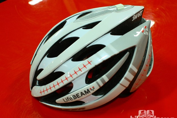 The Lazer Genesis with Lifebeam provides wireless heart-rate data