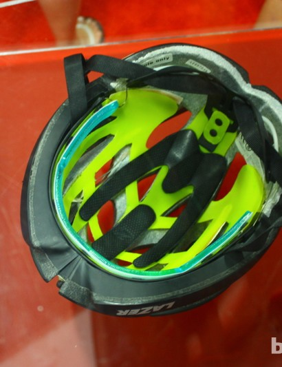 Lazer added MIPS technology to two adult helmets for 2014. The MIPS objective is to reduce the rapid deceleration of the skull in the event of a crash