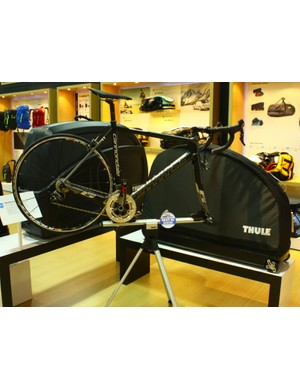 Thule's new line of Round Trip travel cases integrates a workstand