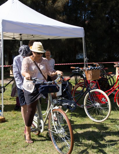 The mornings Retro-Ride gets lots of attention, and the Classic bikes for trial do too