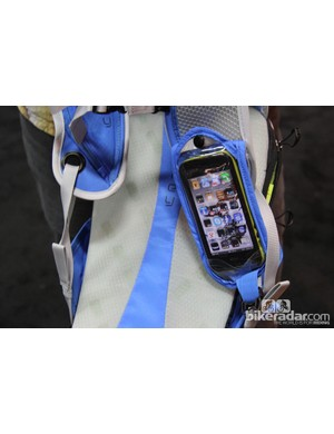 The pouch flips down to reveal a clear screen so the wearer has easy access to their phone. This is will likely be used throughout the Osprey's packs in the future