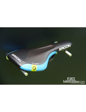 Ergon's SME3 saddle is designed for trail riding. It has rounded edges so as not to snag baggy shorts. SME3 pricing ranges from $79 to $200; it will be available in February 2014