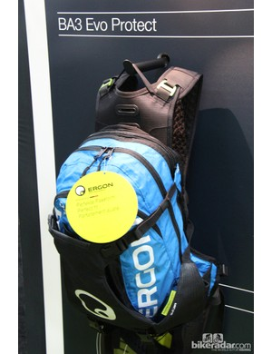 Ergon's US$129 BA3 Evo pack can carry pads and a full face helmet and also is compatible with a spine protector