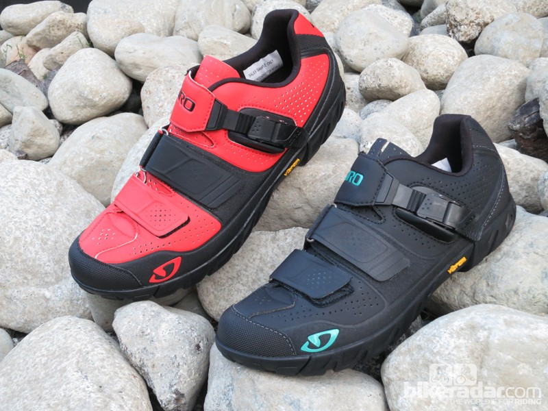 Giro has a new trail/enduro shoe in men's and women's versions. Dubbed the Terraduro and the Terradura, these shoes will retail for US$180 and will be available in October