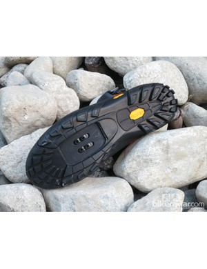The Terraduro has a full Vibram rubber sole with ample lugs for hike-a-bike sections