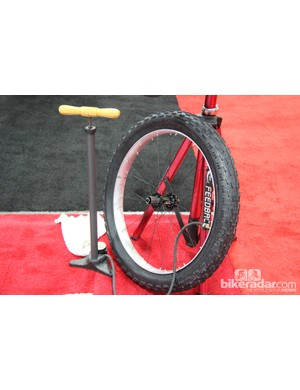 Notubes was showing off a rough prototype of its first fat bike rim