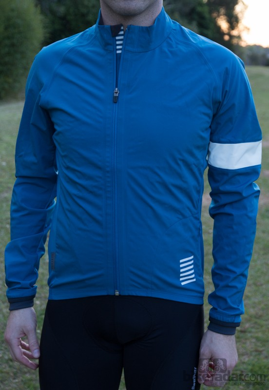 The Rapha Pro Team Jacket in Bright Blue. Also available in Orange and Grey