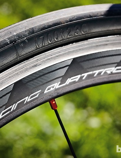 Racing Quattro: stiff and reliable wheels, but their weight holds them back on climbs