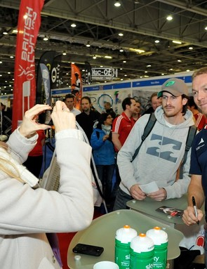 Sir Chris Hoy was one of the stars of the 2013 London Bike Show