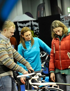 The London Cycle Show is the perfect environment to choose a new bike - and maybe give it a go on the indoor track