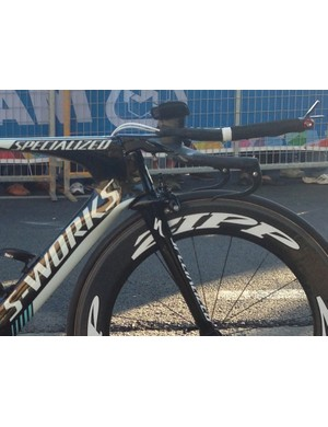 Tony Martin's Specialized S-Works Shiv TT at the 2013 World Championships uses a Shimano Missile EVO bar