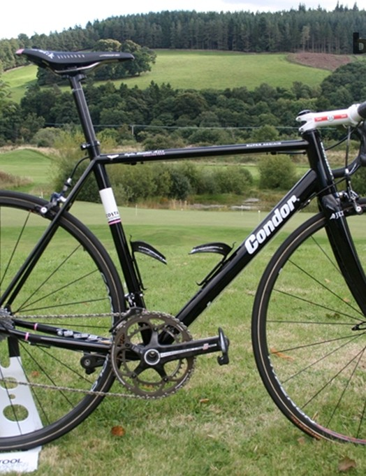 Kristian House (Rapha-Condor-JLT) rode a steel Condor Super Acciaio on the final stage of the Tour of Britain last Sunday