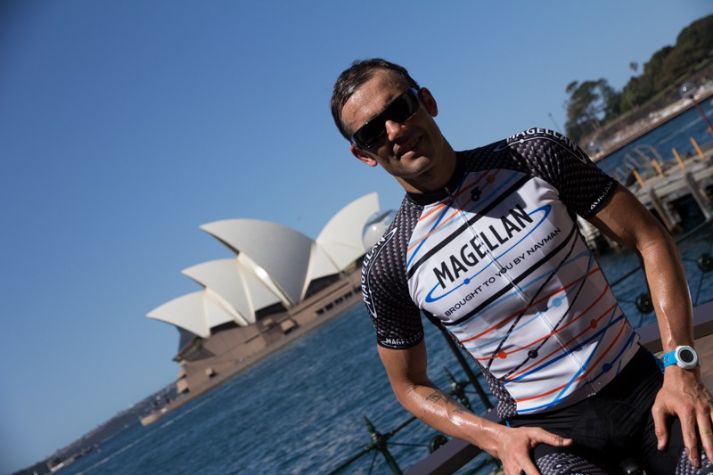 The Magellan Cyclo500 and Echo were launched in sunny Sydney harbour - athletes and product were on show