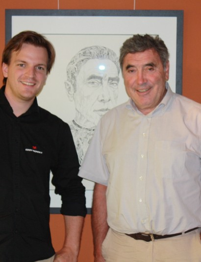 Eddy Merckx himself with Eddy Merckx USA manage Peter Vanham