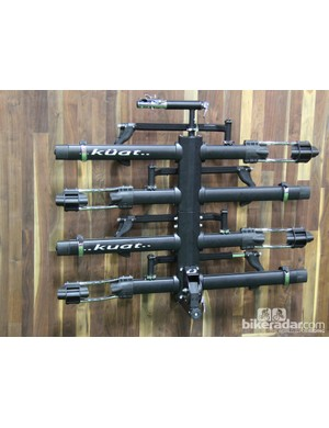Kuat will be offering its flagship NV hitch rack in a black and silver finish as well as the standard silver and orange