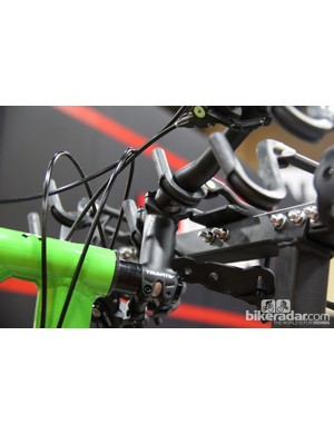 Unlike the handful of other vertical hitch racks on the market, Softride's design holds the bikes by the handlebar, rather than by the front wheels