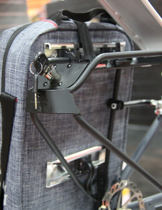 Blackburn's Central bags and panniers can be locked onto the company's new Interlock rack system
