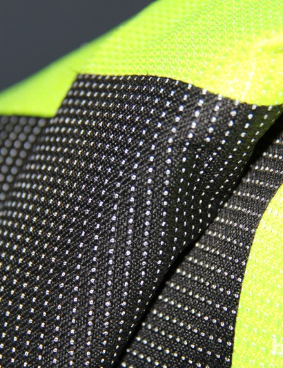 The bags have reflective threads sewn into the waterproof fabric