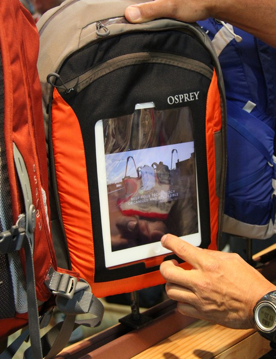 Osprey's Portal series of commuter bags has a tablet sleeve and zippered compartment that allows the user to access their tablet without removing it from the bag. Osprey believes this will be a hit with commuters who spend a lot of time on trains, buses and subways