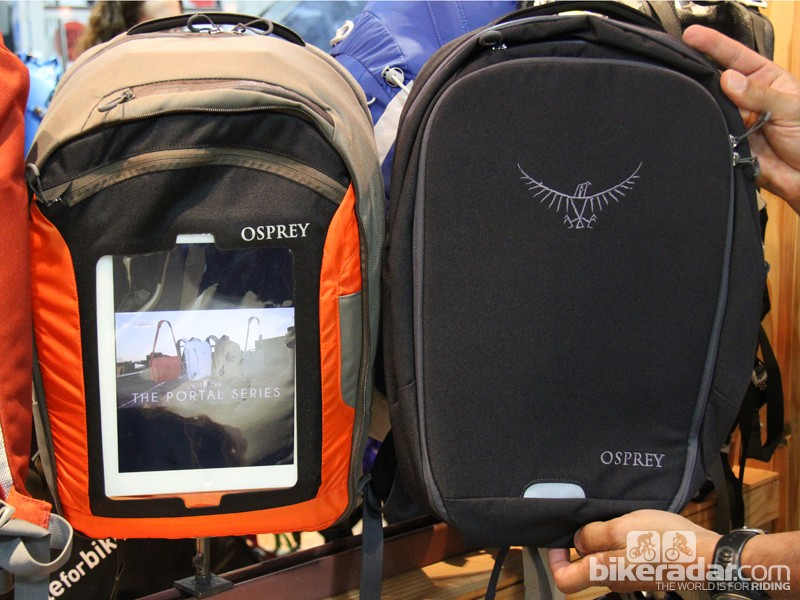 The Osprey Portal with the tablet window open and closed. The Portal line retails for US$100 to US$160, depending on size.