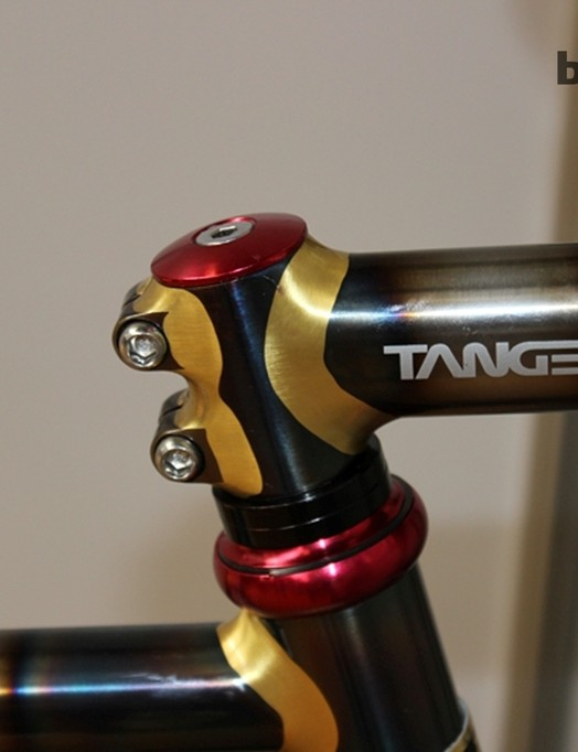 Check out the brazing and polished finish on this display Tange Yasujiro bike from Japan