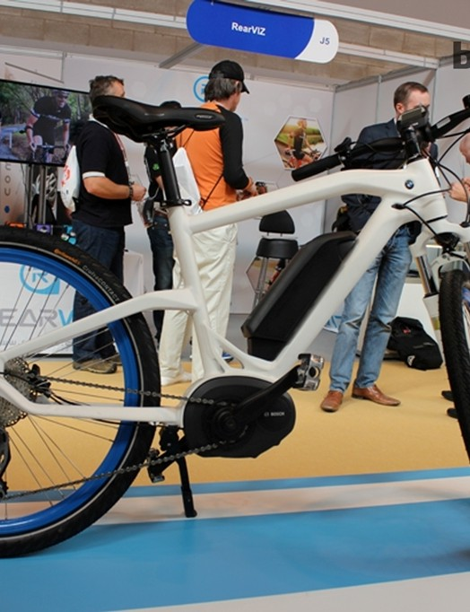 The BMW Cruise electric bike occupied pride place on the Bavarian car company's stand.