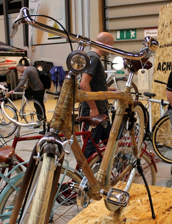 A bike show's not a bike show unless there's something wooden, so how about this bamboo offering?