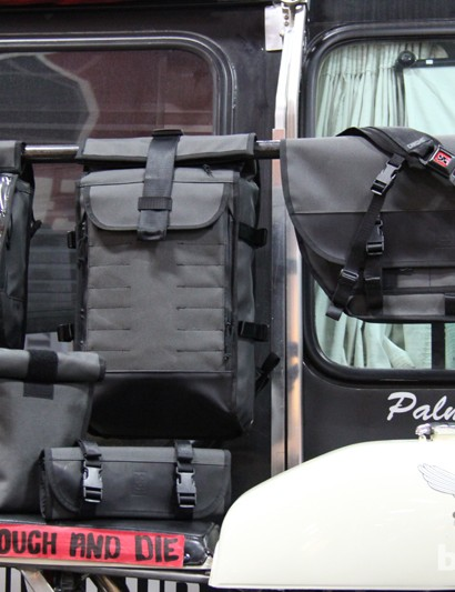 Chrome's moto bags feature the same bomb-proof construction with straps that are captured so they won't whip around in the wind while riding