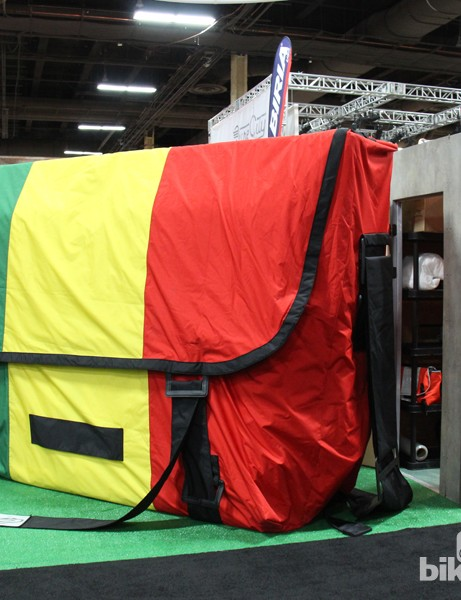Not to be outdone, Timbuk2 create the world's largest rasta messenger bag
