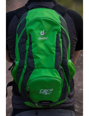 The Deuter Race EXP Air has a small organised compartment and a larger, expandable one