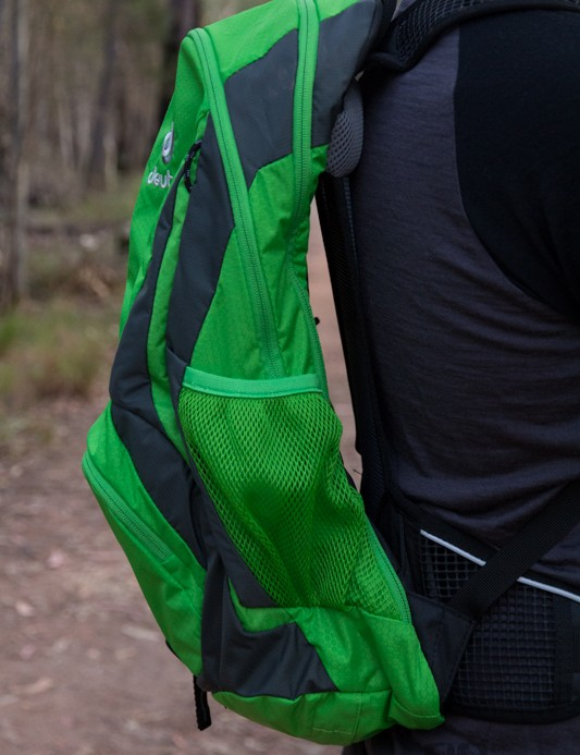 The Deuter Race EXP Air is designed to sit off the riders back and improve airflow - we found it worked extremely well