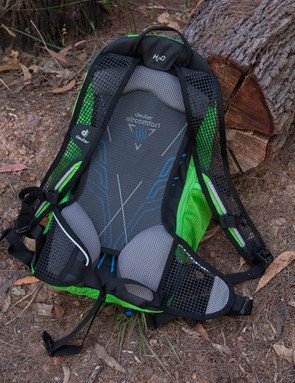 The Deuter Race EXP Air's ventilation system can be seen here