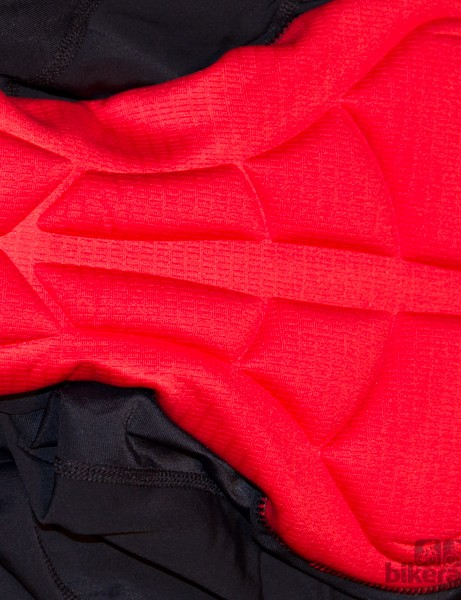 The Bellwether Axiom Bib shorts feature a nicely shaped and padded chamois