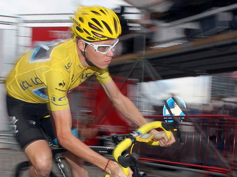 Chris Froome was one of the last British riders to abandon the men's road race on Sunday