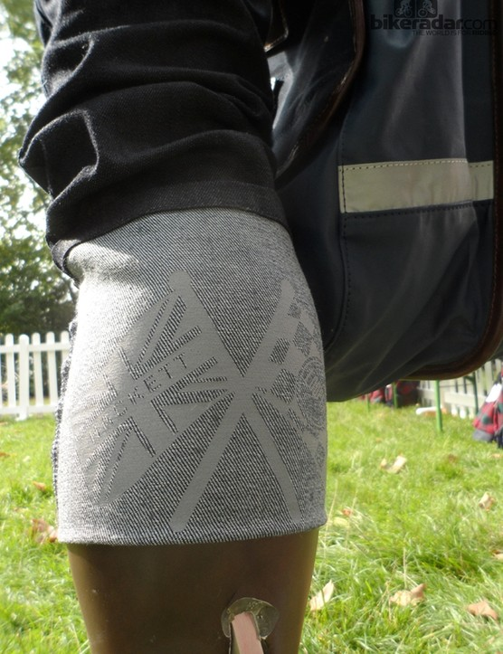 The crank side calf has a scotchlite Hackett-Cooper logo print