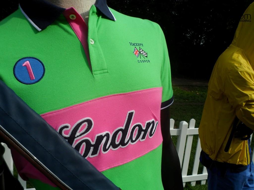 The Hackett rider's polo shirt