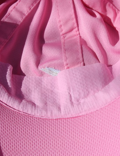 The Real X visor uses a similar material as the Real X towel on the headband. It hardens like this when dry