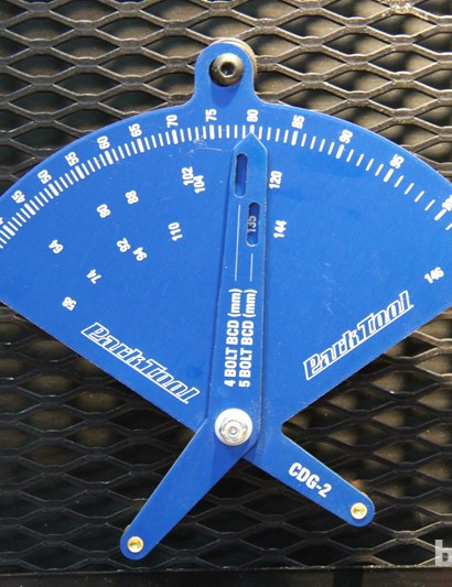 The Park Tool CDG-2 will help mechanics make sense of the increasing number of bolt circle diameters, both 4- and 5-bolt. The CDG-2 retails for US$48.95
