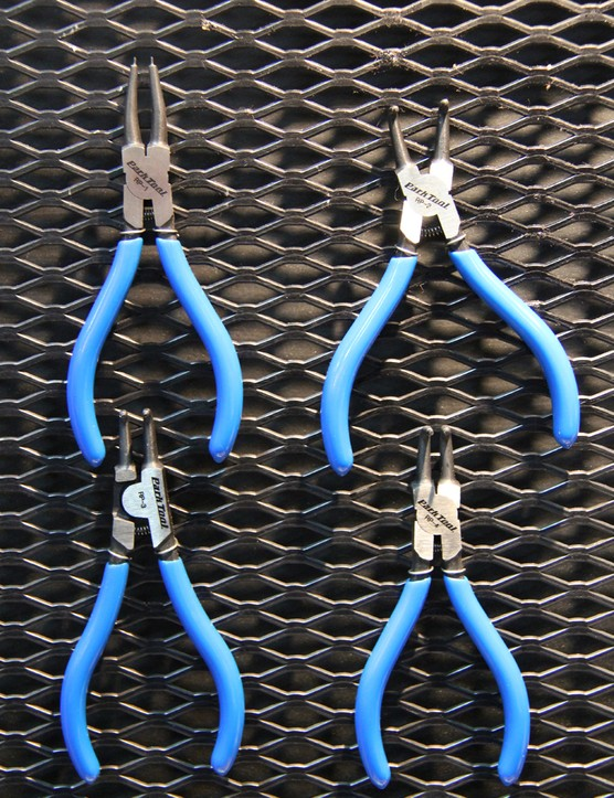 Park Tool has a new set of snap ring and needle nose pliers. The set of four retails for US$86.95. Individual pliers are US$24