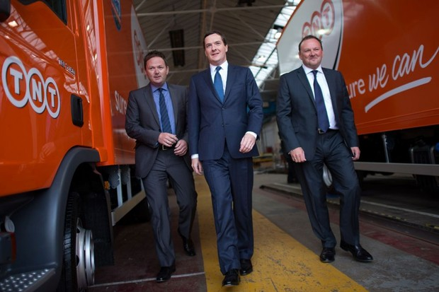 Chancellor George Osborne (centre) has been accused of ignorign the economic gains cycling could bring
