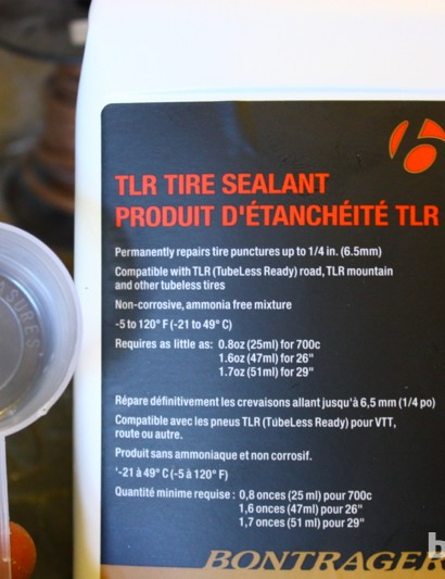 Road tubeless 2014: Bontrager sells its own sealant for tubeless wheels