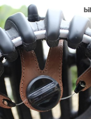 The leather interior of the Casco Attack: let down slightly by the light feel of the disc fit dial?