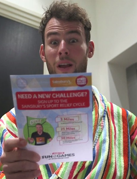 Mark Cavendish is up for the challenge of the Sainsbury's Sport Relief Cycle on 23 March 2014