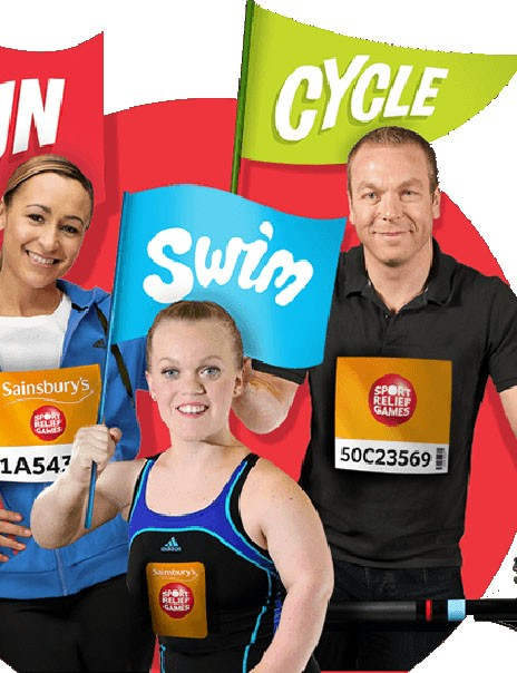 Sport Relief runs from 21-23 March 2014 and features running, swimming and cycling events