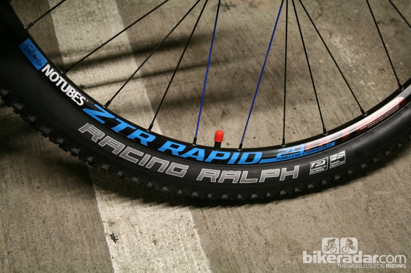 Compromising in the right places means that the Trail SL gets an exceptional wheelset - Stan's NoTubes ZTR Rapid - for the cash