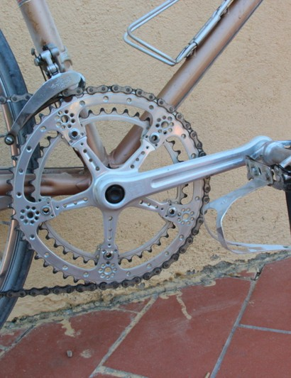 L'Eroica Pro bike: The big ring wouldn't come as a shock to modern riders, but the 42-tooth small ring certainly would