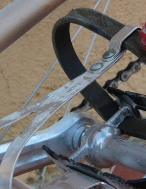 L'Eroica Pro bike: Campagnolo Nuovo Record pedals with Christophe Z Speed toe clips