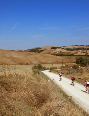 L'Eroica Pro bike: While the course of L'Eroica does pop onto short stretches of pavement, most of the ride is on quiet gravel roads through the rolling countryside