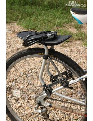 Dombroski was especially proud of the Freeload rear rack, which was sent to her directly from the company in New Zealand. Freeload was recently purchased by Thule