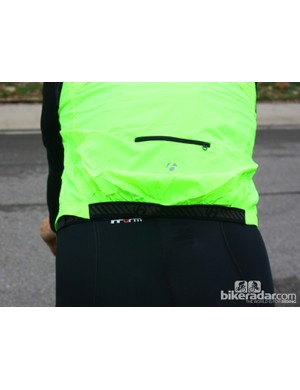 Bontrager fall wear: The Race Windshell has a back vent and a little zippered pocket